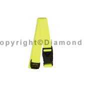 SLP® Highly Visible Yellow Helmet Elastic Lanyard (PK OF 10))