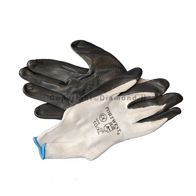 Nitrile Palm Coated Gloves Size 10/XL (Sold in packs of 12 pairs)