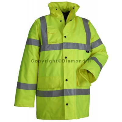 High Visibility Traffic Jacket (Yellow) With Your LOGO On