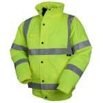 High Visibility Bomber Jacket (Yellow) With Your LOGO On