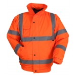 High Visibility Bomber Jacket (Orange) With Your LOGO On